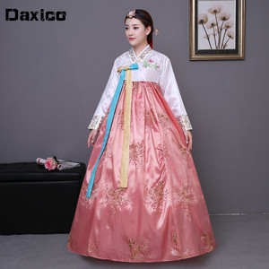 Image 1 - Cekinowy koreański tradycyjny strój hanbok kobieta Korea pałac kostium hanbok sukienka narodowa odzież do tańca na pokaz sceniczny 89