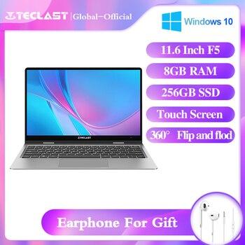 Teclast F5 laptop 11.6inch notebook 360° Spin Intel Celeron N4100 8GB RAM 256GB SSD 1920*1080 touch scree Camera Wifi Bluetooth