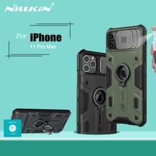 Para o iphone 11 pro max caso anel suporte do telefone titular nillkin slide câmera proteger privacidade capa traseira para iphone 11 pro caso