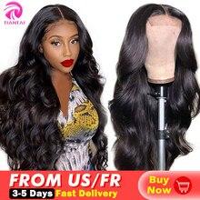 Tiantai 13x4 peruca da onda do corpo frente do laço perucas de cabelo humano brasileiro peruca do laço do cabelo humano fechamento do laço peruca para a mulher remy 180 densidade