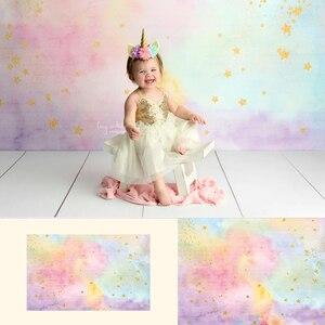 Image 2 - קשת יילוד אמנותי תמונה רקע זהב נצנץ כוכב קטן חלומי מתוק ילדי יום הולדת רקע לצילום סטודיו