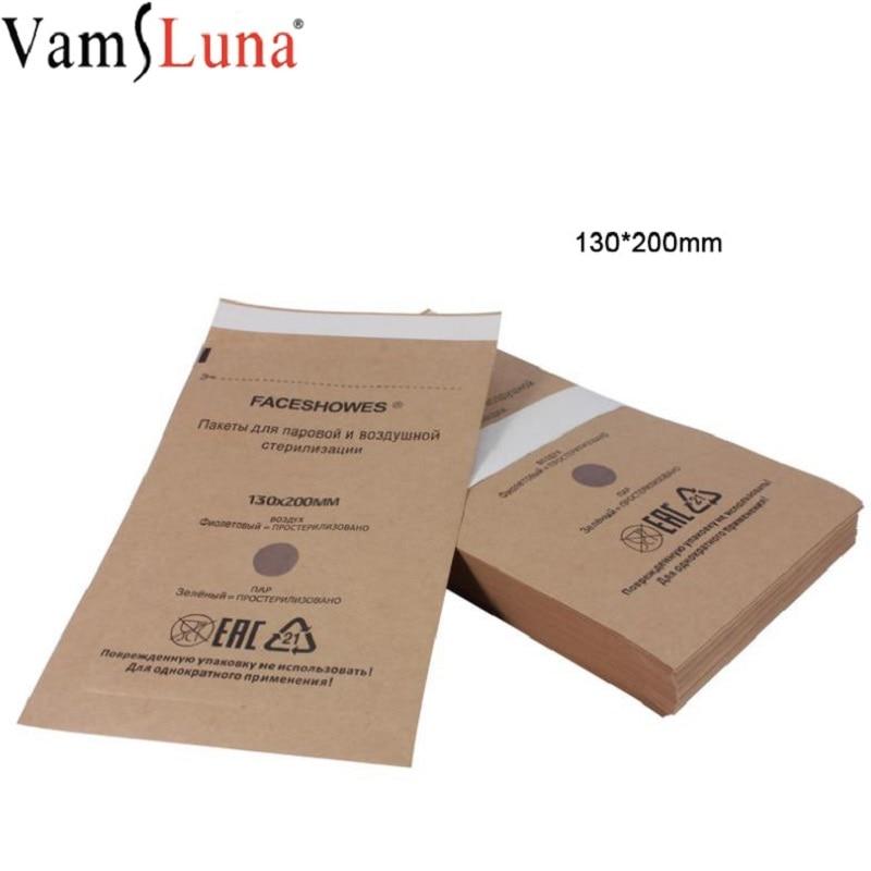 100Pcs 130X200mm Disposable Sterilization Bag For Cosmetics Nail Tool Disinfection Machine Accessory Sterilization Bag