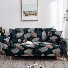 Sillón en forma de L funda de sofá elástica Vintage negro único amor 3 4 plazas esquina seccional cubierta elástica de sofá para sala de estar