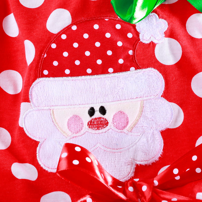 Hf46a1c89cc134c588203987a504d2e92S 2-6T Santa Claus Christmas Dress Kids Party New Year Costume Winter Snowman Baby Girl Clothes Christmas Tree Children Clothing