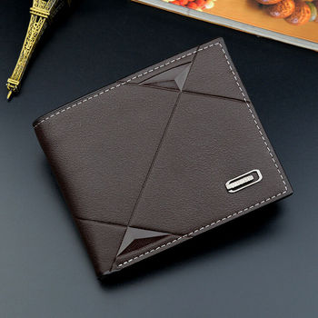Men Business Leather Billfold Wallet Luxury  2