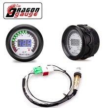 「DRAGON」 52mm Air Fuel Ratio Gauge With Narrowband O2 Oxygen Sensor Car Gauge Digital Display Fit for 12V Car 0258006028