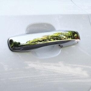 Image 2 - Für Volvo XC60 XC90 S90 V90 CC 2018 2019 2020 Auto Tür knob ABS Chrome Außentür Griff Bar Rahmen abdeckung Trim Zubehör