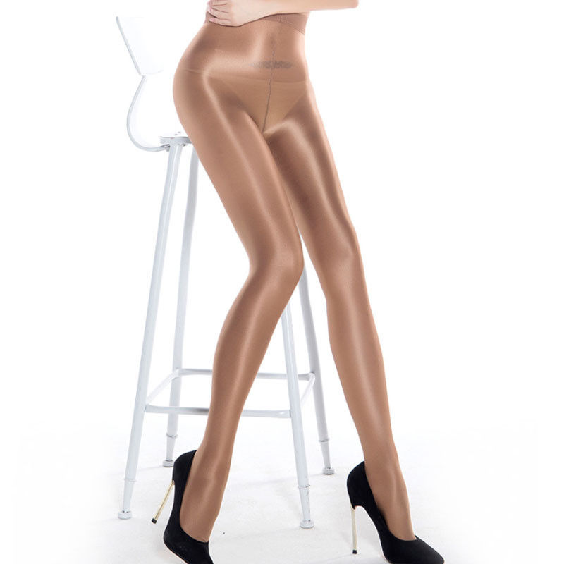 Hot Sale 4 Colors Classic Women's Sheer Sexy Shiny Glossy Oil Pantyhose One Size Tights