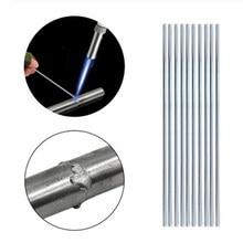 10 unids/set varilla de soldadura baja temperatura varilla de soldadura de aluminio varilla de soldadura de alambre