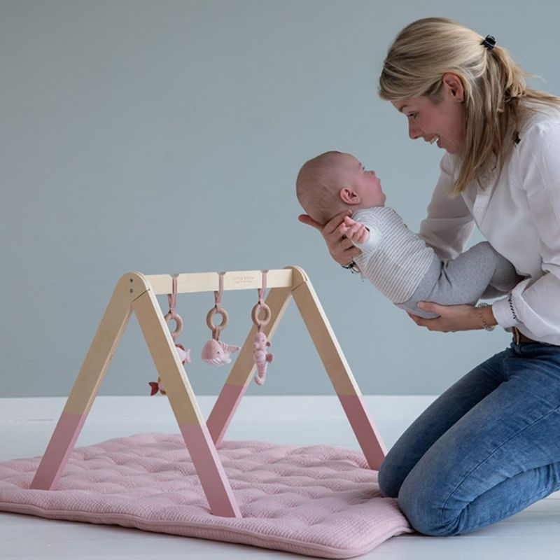 Nordic Wooden Fitness Rack Children Room Decorations Baby Play Gym Activity Pendants Hanging Bar Newborn Gifts