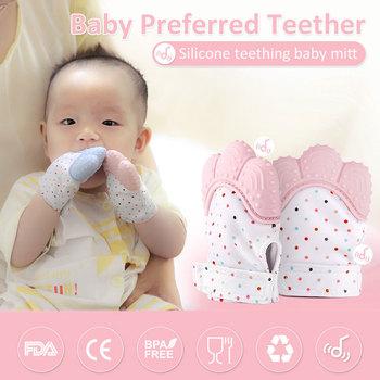 Rękawiczki silikonowe dla dzieci rękawiczki dla niemowląt smoczek dla niemowląt ząbkowanie gryzaki dla niemowląt gryzaki dla dzieci rękawice dla niemowląt zadrapania dla noworodków tanie i dobre opinie VICIVIYA Poliester Silicone Unisex TR033 100*70*40 mm Silicone Teether Pacifier Glove Teething Newborn Nursing Teether BPA Free children s gloves