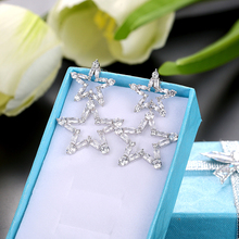 personality simple five-pointed star rhinestone earrings female stars zircon womens fashion jewelry Accessorie gifts