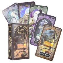 O familiar tarô baralho guia cartão de mesa jogo de cartas mágico destino adivinhação cartão