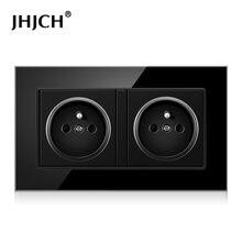 Jhjch enchufe de двойной marco francia панель с белым/черным