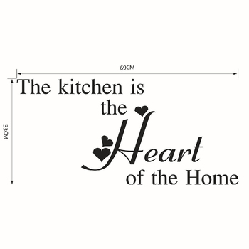 Kitchen Wall Stickers Vinyl Wall Decals for Kitchen English Quote Home Decor Art Decorative Stickers PVC Dining Room For Bar PVC 23