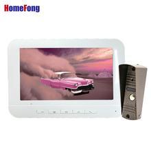 Homefong 7 인치 유선 비디오 인터폰 초인종 카메라와 함께 흰색 잠금 해제 문 전화 인터폰 시스템 주 야간 투시경 ip65