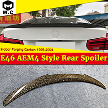 For BMW E46 Coupe Forging Carbon fiber Trunk spoiler wing M4 style 3 Series 2-door 318i 320i 323i 325i 328i wings 96-04