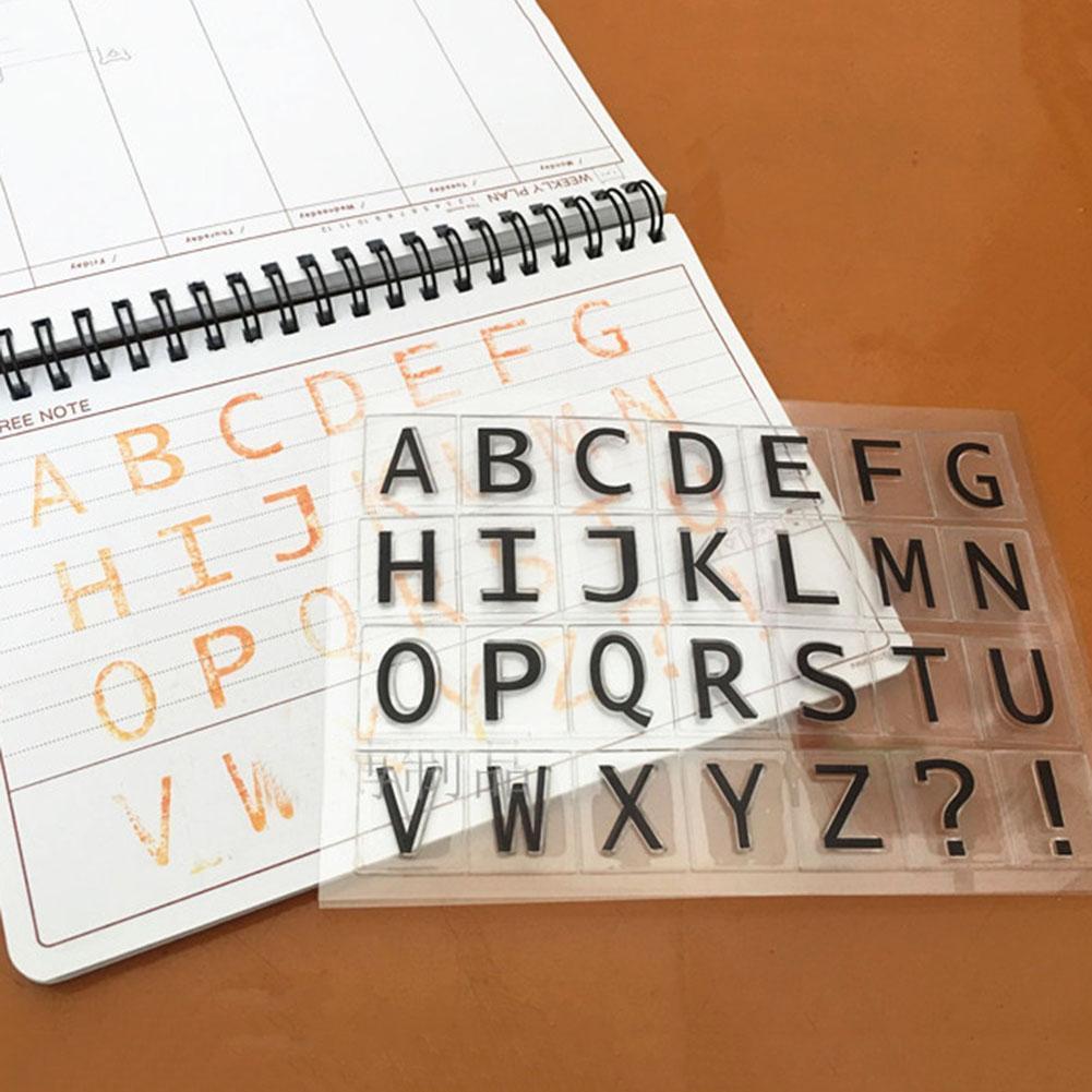 PHILSP Alfabeto Silicona Sello Claro Sello DIY Scrapbooking Relieve /álbum de Fotos decoraci/ón