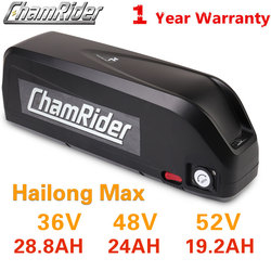 Original 48V Battery 48V 20AH 52V ebike Battery 36V Hailong Max 40A BMS 350W 500W 750W 1000W 1500W 21700 Cell BBS02 BBS03 BBSHD