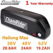 Oryginalny akumulator 48V 48V 20AH 52V ebike bateria 36V Hailong Max 40A BMS 350W 500W 750W 1000W 1500W 21700 komórek BBS02 BBS03 BBSHD tanie tanio chamrider CN (pochodzenie) 31-40ah 48 v Lithium Battery