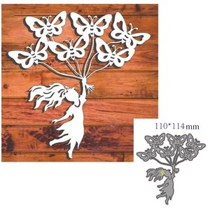 metal cutting dies cut die mold Girl and butterfly decoration Scrapbook paper craft knife mould blade punch stencils dies