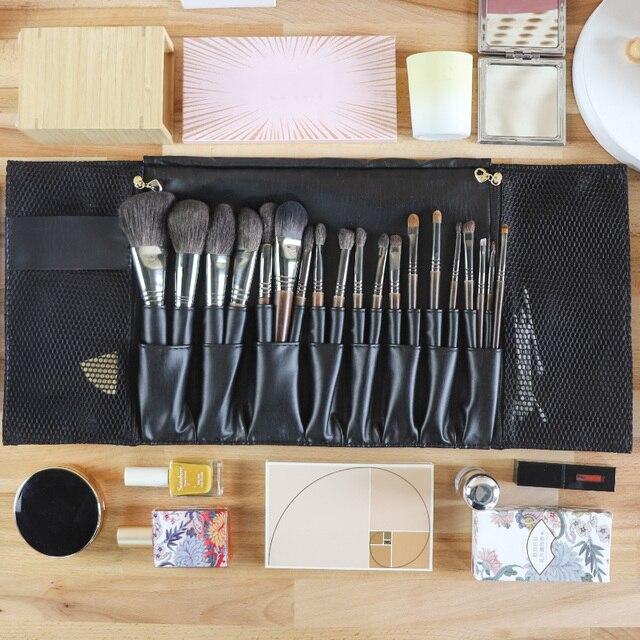 24 Pockets Black Multi-function Makeup Brushes Bag Professional Cosmetic Tools Storage Holder for Brushes dlya kistey organayzer 6