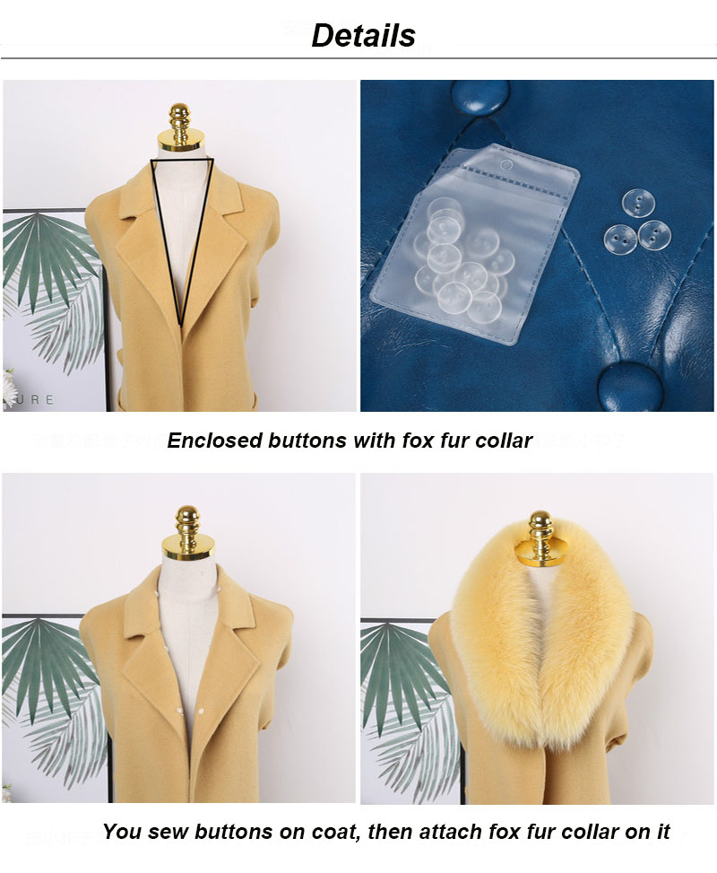 fox fur collar details