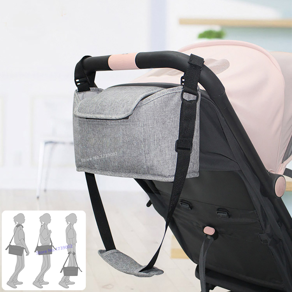 Cup Bag Baby Stroller Organizer Mummy Diaper Bag Hook Baby Carriage Waterproof Stroller Accessories Travel Nappy