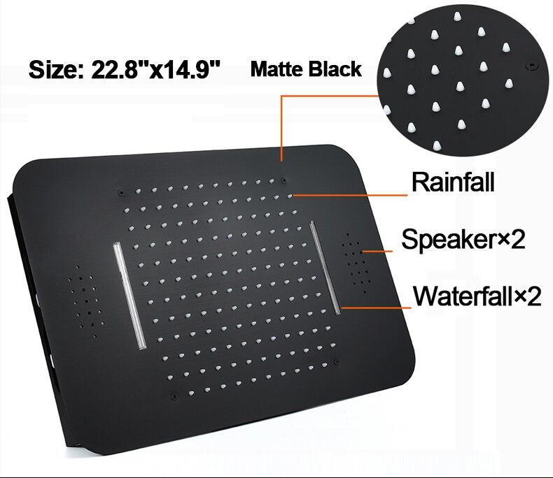 Hf46c360c7053470c905427dfe9a2332d6 M Boenn Music Shower System Rain ShowerHeads LED Shower Set Bathroom Faucet Thermostatic Valve Matte Black/Chrome Bath Mixer Tap