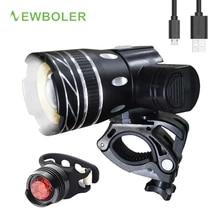 Bicycle-Light-Set Cycling-Lamp Bike Front-Headlight Rechargeable-Battery NEWBOLER 5000mah