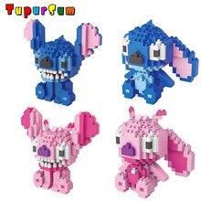 цена на Cute Anime Kawaii Cartoon Stitch Building Blocks Toys Diamond Mini Bricks Stitich Model Kit Educational Toys Assembly Kids Gifts