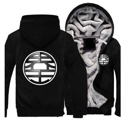 Зимние куртки и пальто Dragon Ball Z худи Аниме Сон Гоку с капюшоном Толстая молния мужские толстовки Длинный свитшот - 4