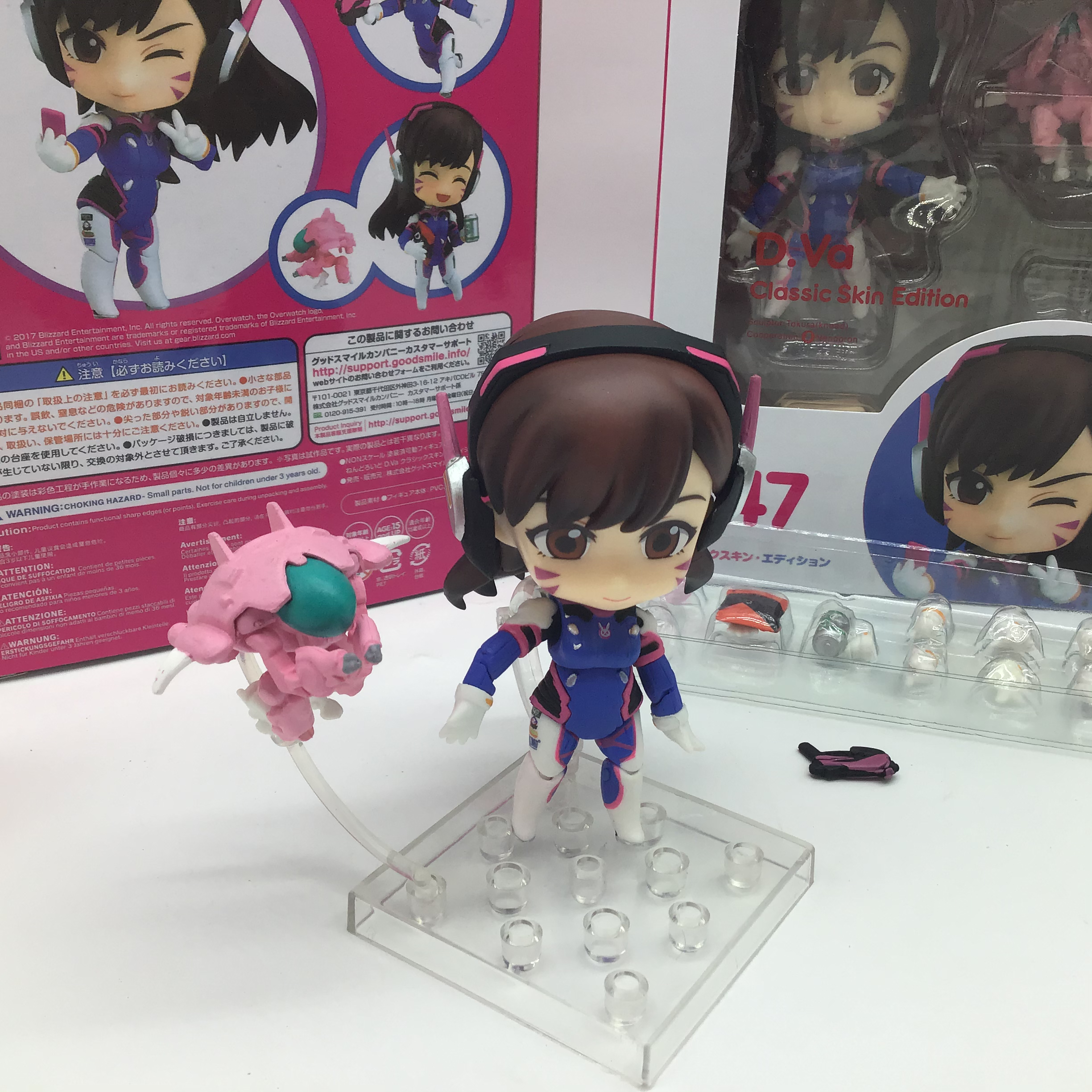 10CM Game Q version Overwatched D.Va 847 # Classic Skin Edition PVC Action Figures Model Toys Gift Doll 5