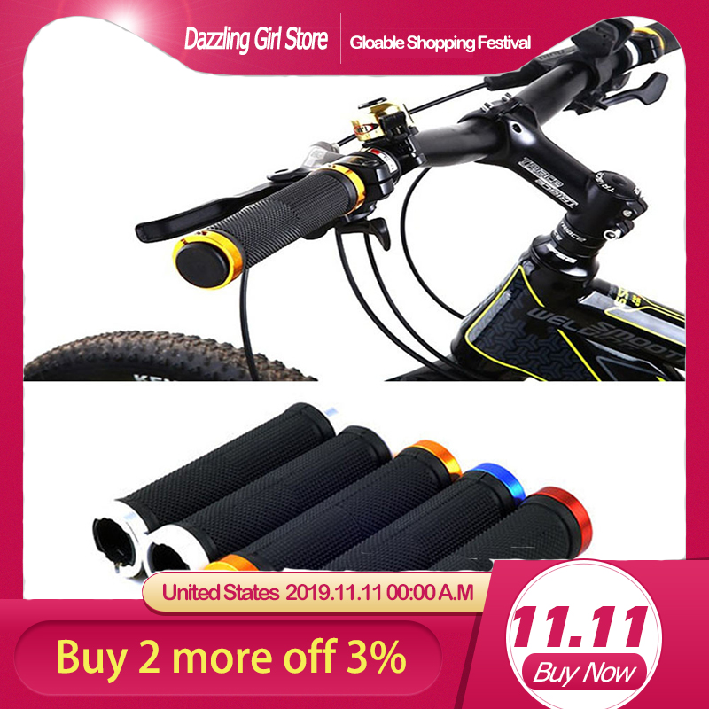 Mountain Cycling Bike Bicycle MTB Handlebar Grip Rubber Anti slip Handle Grip US