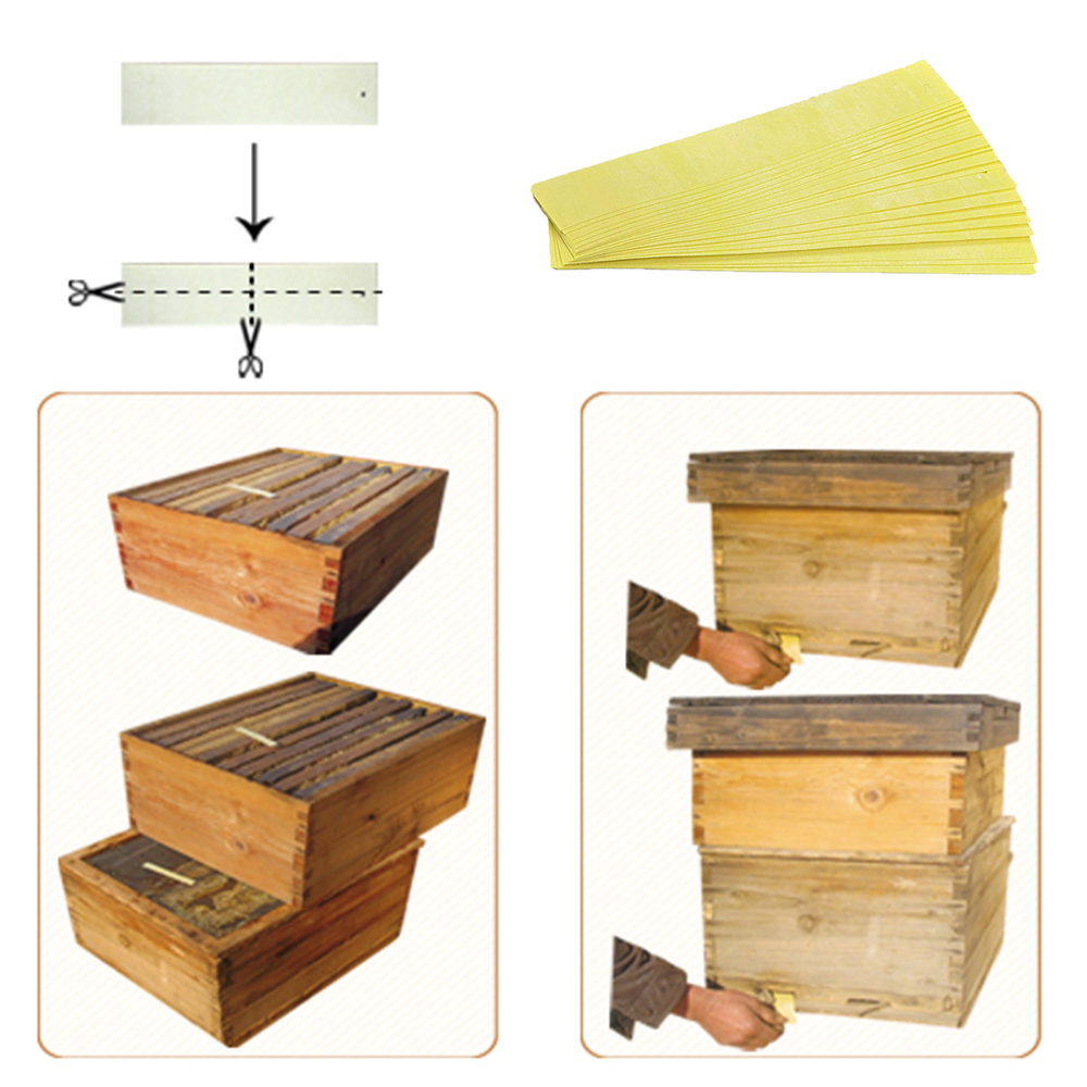 1bag Professional 20 Strips Varroa Mite Control Flumethrin Killer Strip Fluvalinate For Bees Acaricide Beekeeping Treat