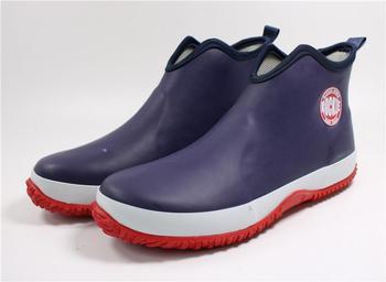 Swonco Men Rubber Shoes Waterproof Rain Boots 2020 Autumn New Male Short Ankle Boots Waterproof Rianboots Shoes 4