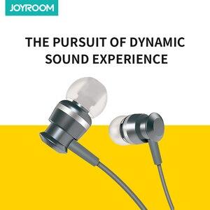 Image 3 - Joyroom Wired אוזניות ב אוזן אוזניות 3.5mm ספורט אוזניות עבור טלפון סטריאו בס צליל מתכת מיקרופון עבור Xiaomi סמסונג