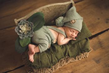 Newborn Photography Props Posing Props Do Old Printed Small Sofa Mini Bed For Studio Children Photography Props New Type