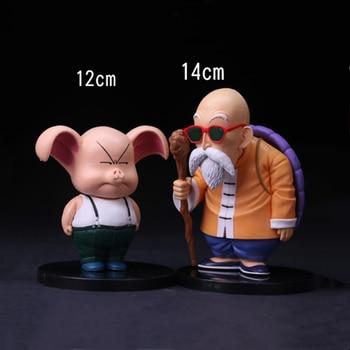 Super Dragon Ball Z figuras de acción Oolong cerdo maestro juguetes Roshi Anime modelo estatuilla lindo muñeca de los niños regalo de Navidad 12cm Figma