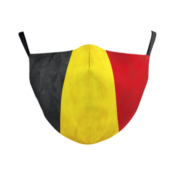 Adult Kids Masks Counrty Flag Mask FR ES NL Printed Face Mask IL Canada Belgium Protective Mask Dustproof Mouth Mask with Filtes 1