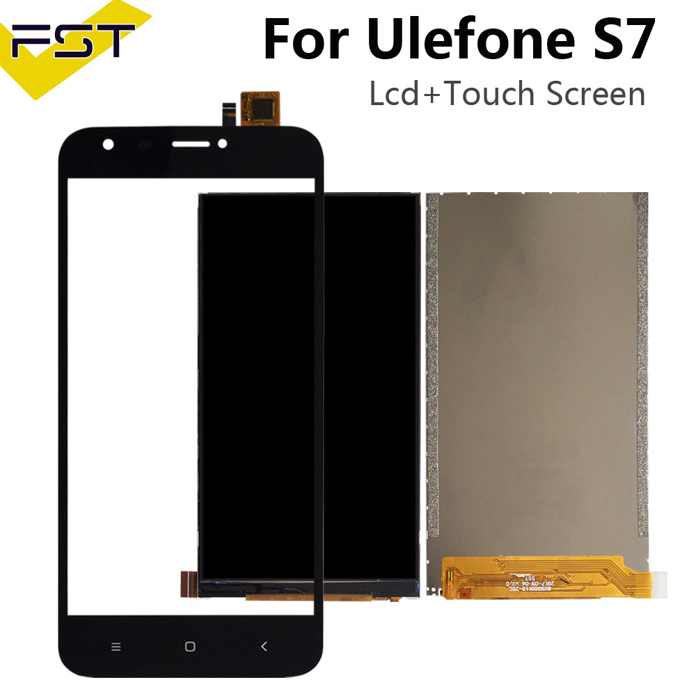 Black For Ulefone S7 LCD Display+Touch Screen Digitizer For Ulefone S7 Screen LCD Spare Parts+Tools+Adhesive