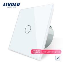 Livolo/Стандартный настенный светильник дистанционный сенсорный переключатель, 1gang 1way, Стекло Панель, 220~ 250 V, C701R-1/2/3/5, без пульта дистанционного управления, без логотипа
