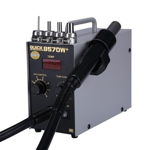 QUICK 857DW+ Bga Rework Station 580W Hot Air Gun Station with Heater SMD Soldering Station