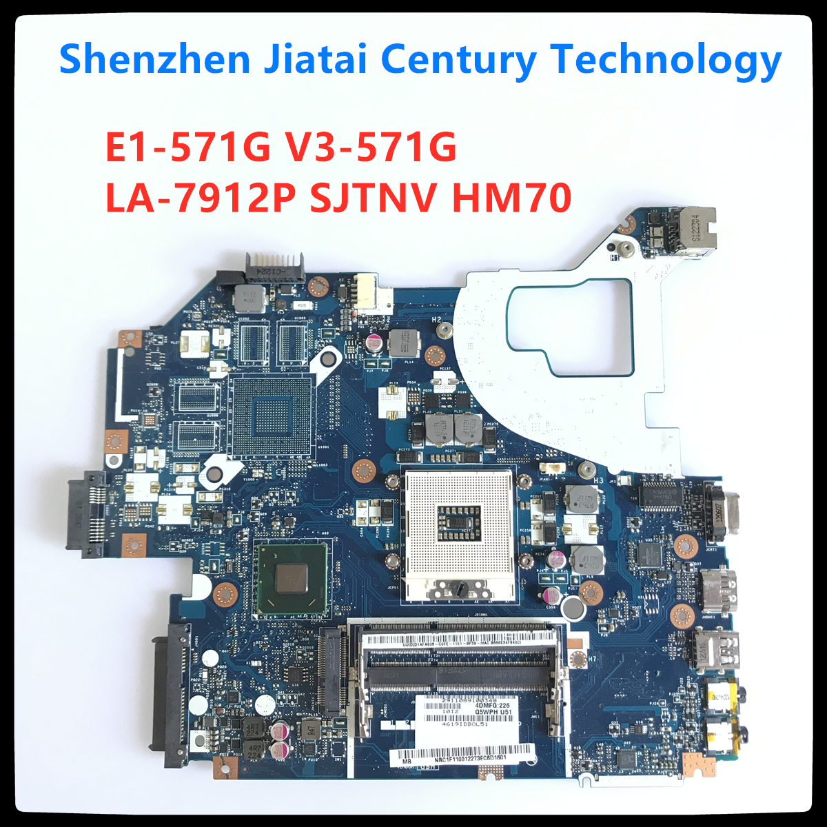 For Acer V3-571 Intel Laptop Motherboard Q5WVH LA-7912P HM70 Chipset NBC1F11001