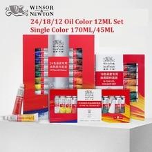 Winsor&Newton 24/18/12 Colors Professional Oil Paint Set for Artist Oil Painting Drawing Art Paint Supplies