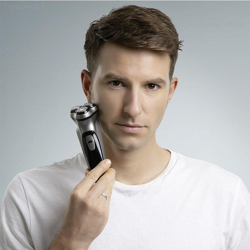 XIAOMI MIJIA Enchen BlackStone электрическая бритва 3D режущая головка портативная мини бритва умный триммер для бороды с низким уровнем шума