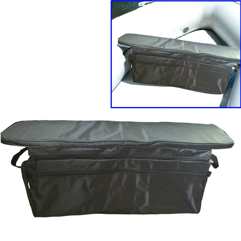 Foldable Oxford Car Trunk Organizer Car Waterproof Back Seat Canoe Inflatable Boat Seat Storage Bag With Padded Seat Cushion