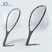 Maximumcatch Fly Angeln Kescher Solide Carbon Fiber Rahmen Nomad Hand Starke & Licht Klar Gummi Net