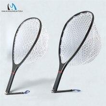 Maximumcatch Vliegvissen Schepnet Effen Carbon Frame Nomad Hand Sterke & Light Clear Rubber Netto
