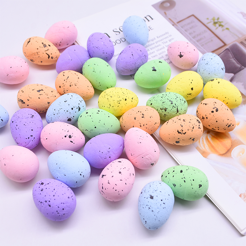Egg Easter Decoration Foam Eggs Ball Pigeon Bird's Nest Mini Painted Eggs DIY Craft Kids Gift Favor Happy Easter Decor Supplies